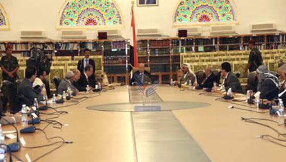 الإعلان عن توقيع اتفاق السلم والشراكة الوطنية والرئيس هادي يهنئ اليمنيين بهذه اللحظات المباركة