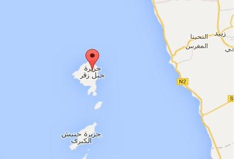 جزيرة زقر البحر الأحمر الحديدة غرب اليمن