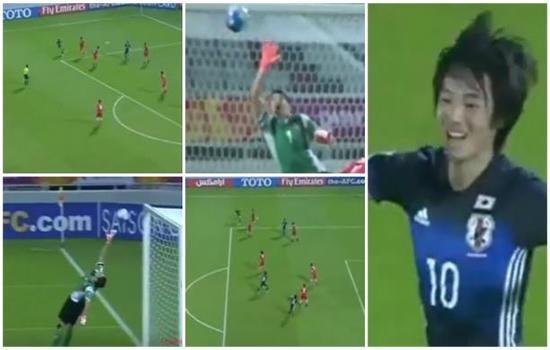 بالفيديو.. لاعب ياباني يسجل هدفين من ماركة عالمية!