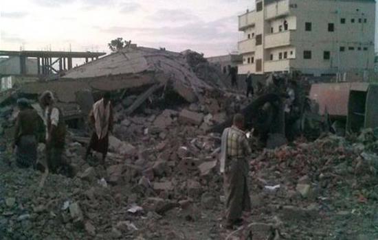 انفجار في مبنى الأمن السياسي بمدينة الحوطة بلحج