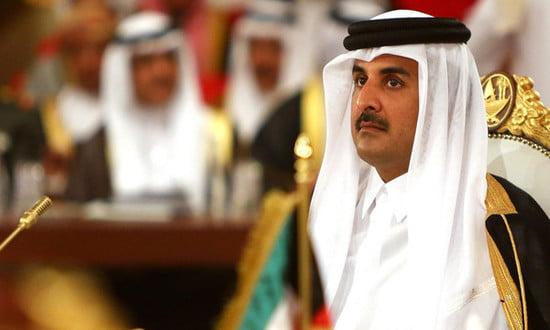أمير قطر يتلقى اتصالاً هاتفياً من رئيس وزراء البحرين لأول مرة