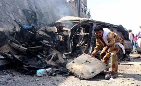 مقتل مدير أمن البيضاء في انفجار عبوة ناسفة