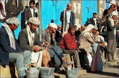 عمال بناء في اليمن
