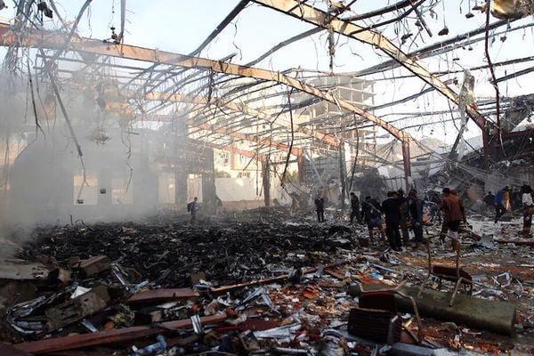 نص بيان فريق التحالف حول استهداف القاعة الكبرى في صنعاء