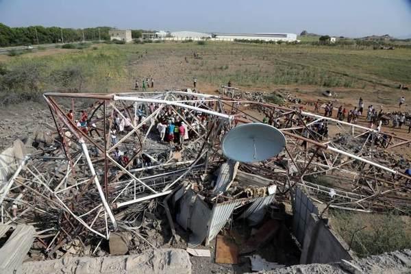 أكثر من 20 قتيلاً وجريحاً بغارات للتحالف في مديرية أفلح حجة
