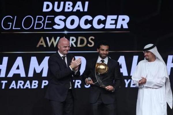 المصري صلاح يفوز بجائزة جلوب سوكر لأفضل لاعب عربي