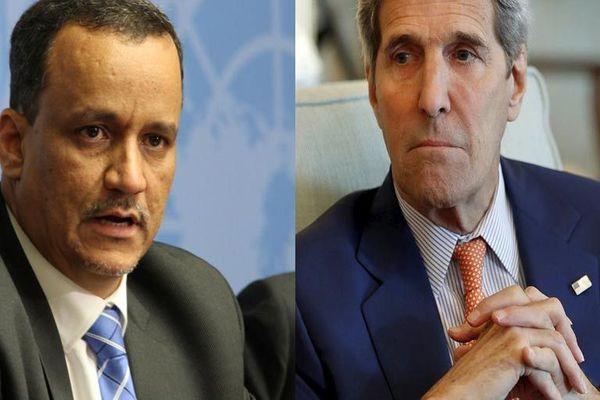 كيري وولد الشيخ يستأنفان مشاورات حاسمة حول اليمن