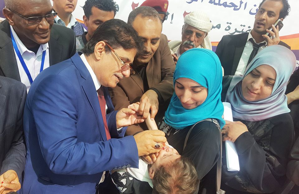 الصحة العالمية: 40 ألف عامل يشارك بحملة التحصين ضد شلل الطفال