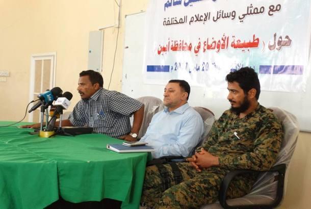 محافظ أبين أبو بكر سالم: الوضع تحت السيطرة والأولوية لملف الأمن