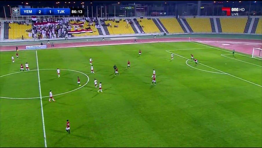 منتخب اليمن يفوز في أولى مبارياته مع طاجيكستان 2 مقابل 1