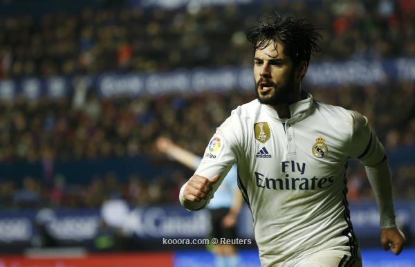 ثنائية إيسكو تقود الريال لإسقاط إسبانيول في الدوري الإسباني.. فيديو
