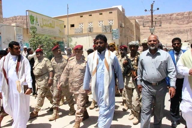 بن حبريش وقيادات عسكرية وأمنية بضيافة دار المصطفى في تريم.. صور