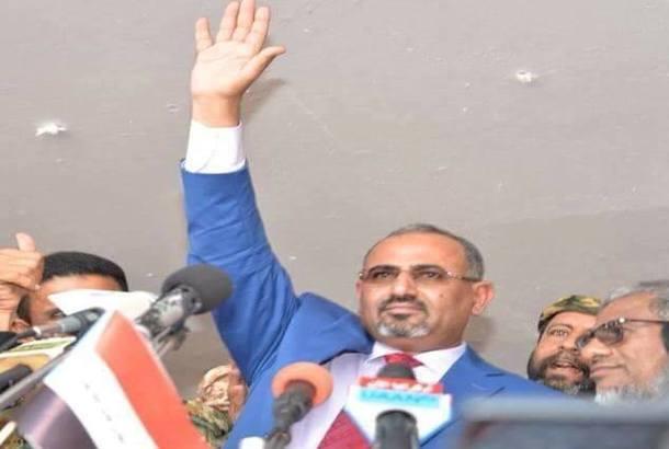 عيدروس الزبيدي: إعلان قيادة الكيان الجنوبي المؤقتة قريباً