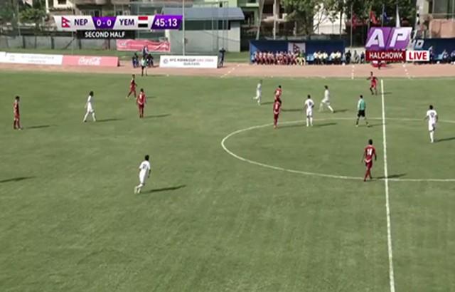المنتخب الوطني يتعادل مع نظيره النيبالي بتصفيات كأس آسيا لكرة القدم