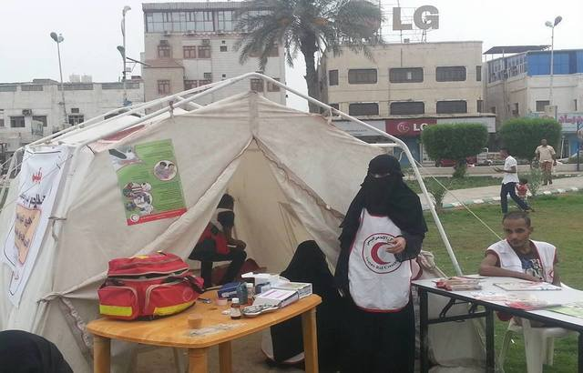 الهلال الأحمر اليمني يخصص خياماً إسعافية في شواطئ ومتنزهات الحديدة