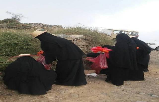 هكذا لجأ أهالي قرية يمنية في حجة لمشروع احترازي ضد الكوليرا.. صور
