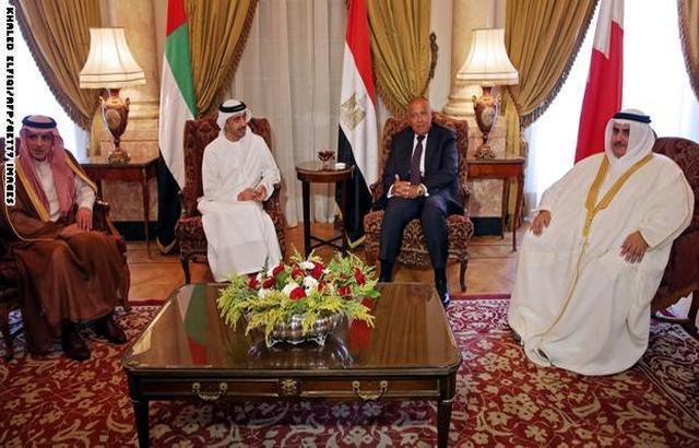 نص بيان اجتماع الدول الأربع في المنامة: متمسكون بالمطالب والحوار مشروط