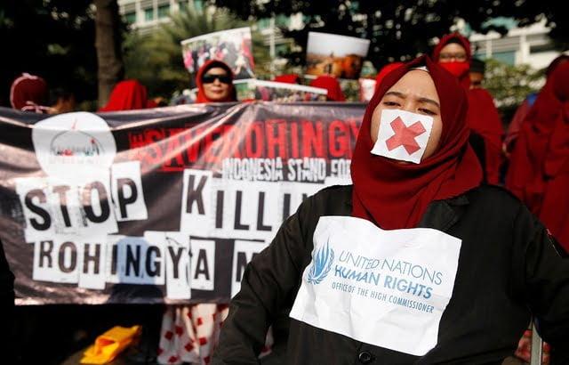آلاف الإندونيسيين يتظاهرون ضد ميانمار في جاكرتا