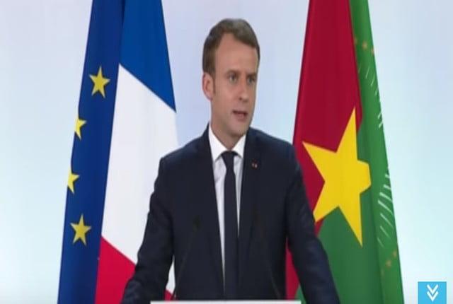 """فيديو.. ماكرون يعترف بـ""""جرائم الاستعمار الأوروبي"""" في أفريقيا ويدعو لعلاقة جديدة"""