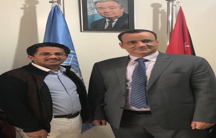 البخيتي: لقاء جمعني بالمبعوث الأممي ولد الشيخ للحديث باستفاضة عن تطورات اليمن