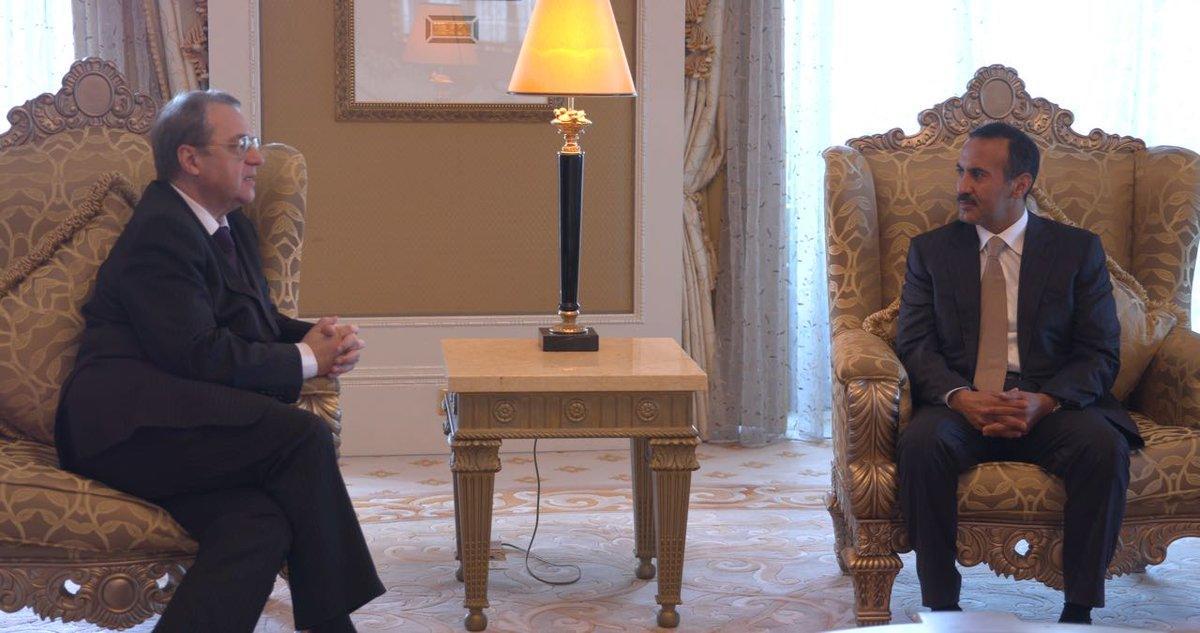 أحمد علي صالح يناقش مع المبعوث الأممي أوضاع اليمن والمؤتمر
