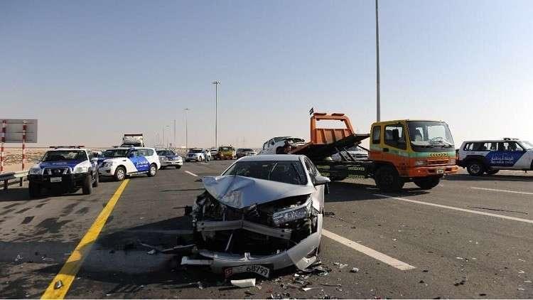 بالفيديو.. 22 مصاباً بحادث اصطدام 44 سيارة في ابوظبي