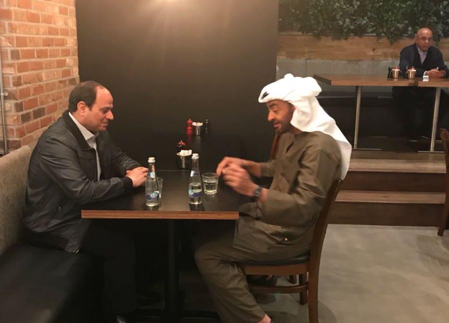 السيسي مع محمد بن زايد في أبوظبي
