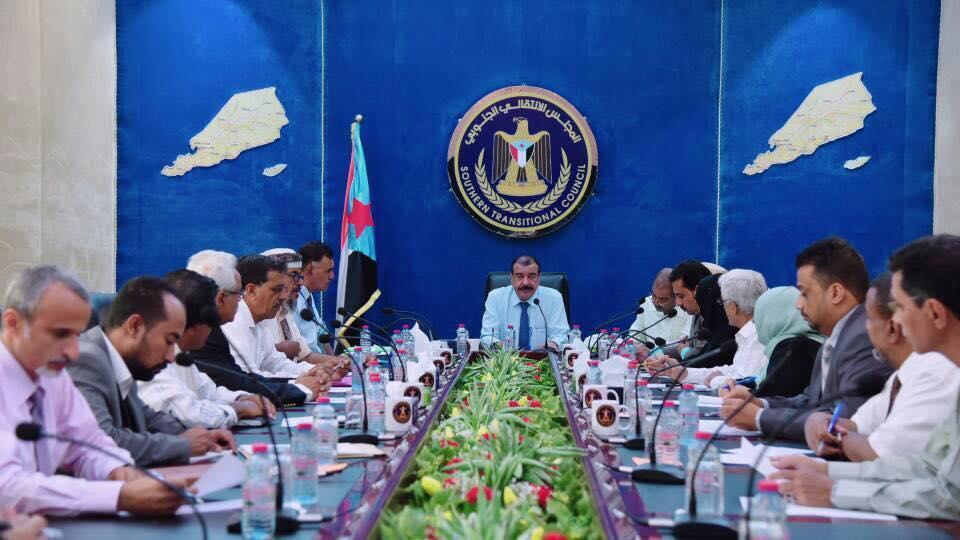 أحمد بن بريك يترأس اجتماع الجمعية الوطنية للمجلس الانتقالي الأول