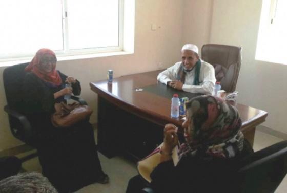 مسؤول في المجلس الانتقالي الجنوبي يلتقي برئيسة اتحاد نساء اليمن