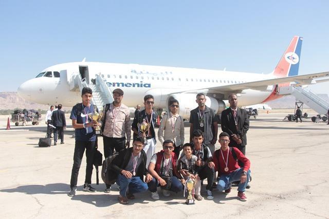 استقبال ابطال العرب لروبورت في سيئون حضرموت اليمن