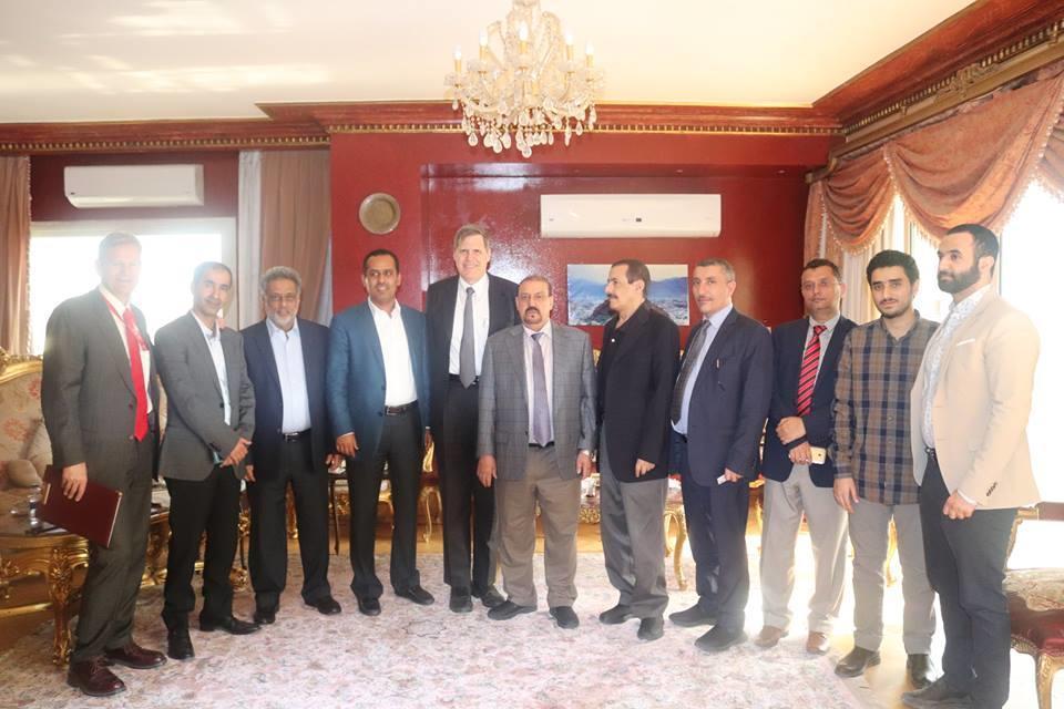 وفد من المؤتمر برئاسة البركاني يلتقي السفير الأمريكي باليمن.. تفاصيل اللقاء