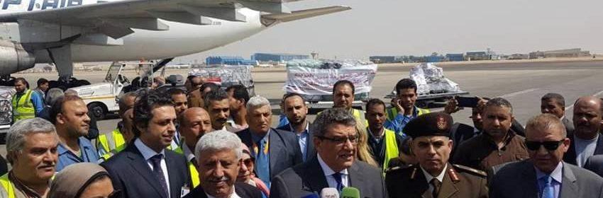 مصر ترسل الشحنة الأولى من المساعدات الطبية إلى اليمن
