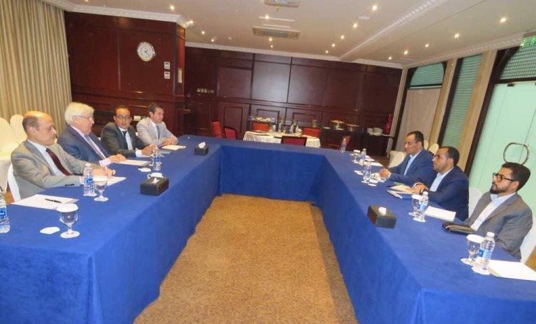 المبعوث الأممي إلى اليمن غريفيث يلتقي وفد الحوثيين في مسقط