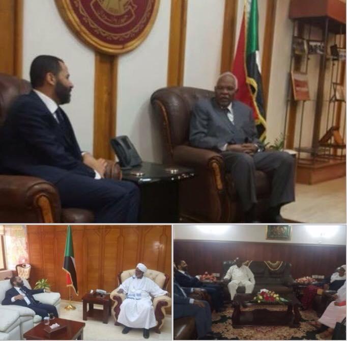 الشيخ حميد الأحمر يلتقي بمساعد الرئيس السوداني ورئيس البرلمان