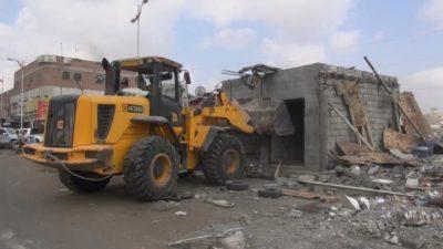 الحملة الأمنية لإزالة العشوائيات في عدن