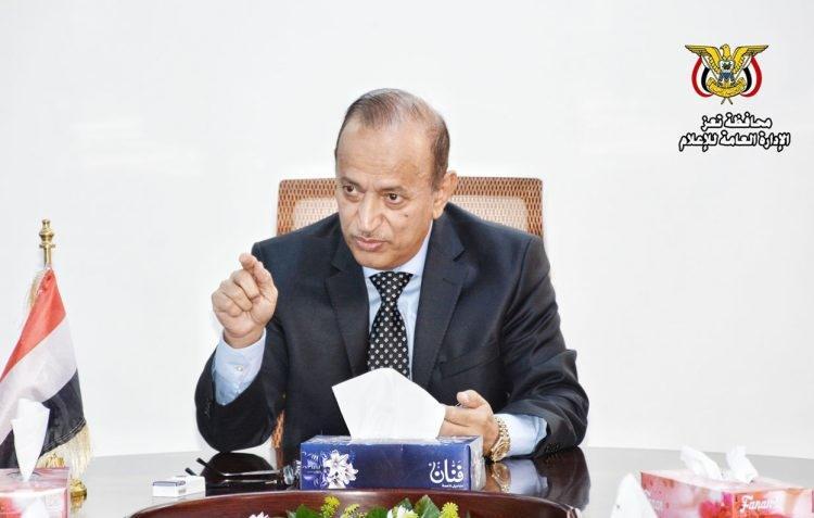 محافظ تعز أمين محمود يوجه كلمة حول التطورات الأخيرة ويأسف لسلوكيات.. النص