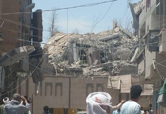نتيجة بحث الصور عن شاهد القصر الجمهوري في صنعاء إثر قصفه