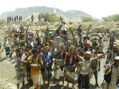 قوات الشرعية في مديرية الوازعية بمحافظة تعز