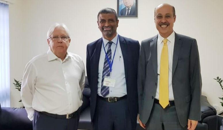 المبعوث الأممي إلى اليمن غريفيث يلتقي أمين عام مؤتمر حضرموت الجامع