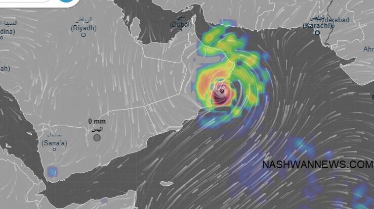 الأرصاد: إعصار جديد يهدد سلطنة عُمان وشرق اليمن الأيام المقبلة.. صورة