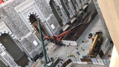 إمارة مكة تعلن سقوط ذراع رافعة في المسجد الحرام