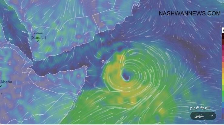 العاصفة المدارية تضرب جزيرة سقطرى وترقب في حضرموت والمهرة.. صورة
