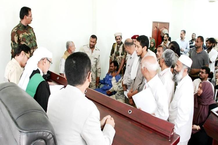 من جلسة محاكمة المتهم عبدالكريم محمد عمر مجور المتهم بقتل الدكتورة نجاة