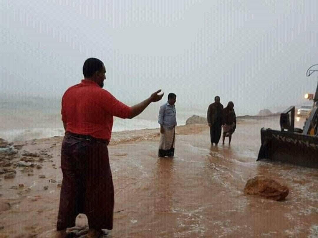 سقطرى بعد إعصار مكونو (تويتر)