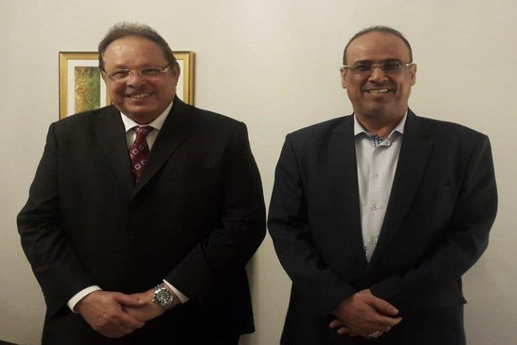 علي ناصر محمد يلتقي أحمد الميسري (تويتر)