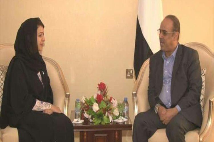 الميسري يستقبل وزيرة إماراتية ويناقش معها القضايا الأمنية وإغلاق السجون