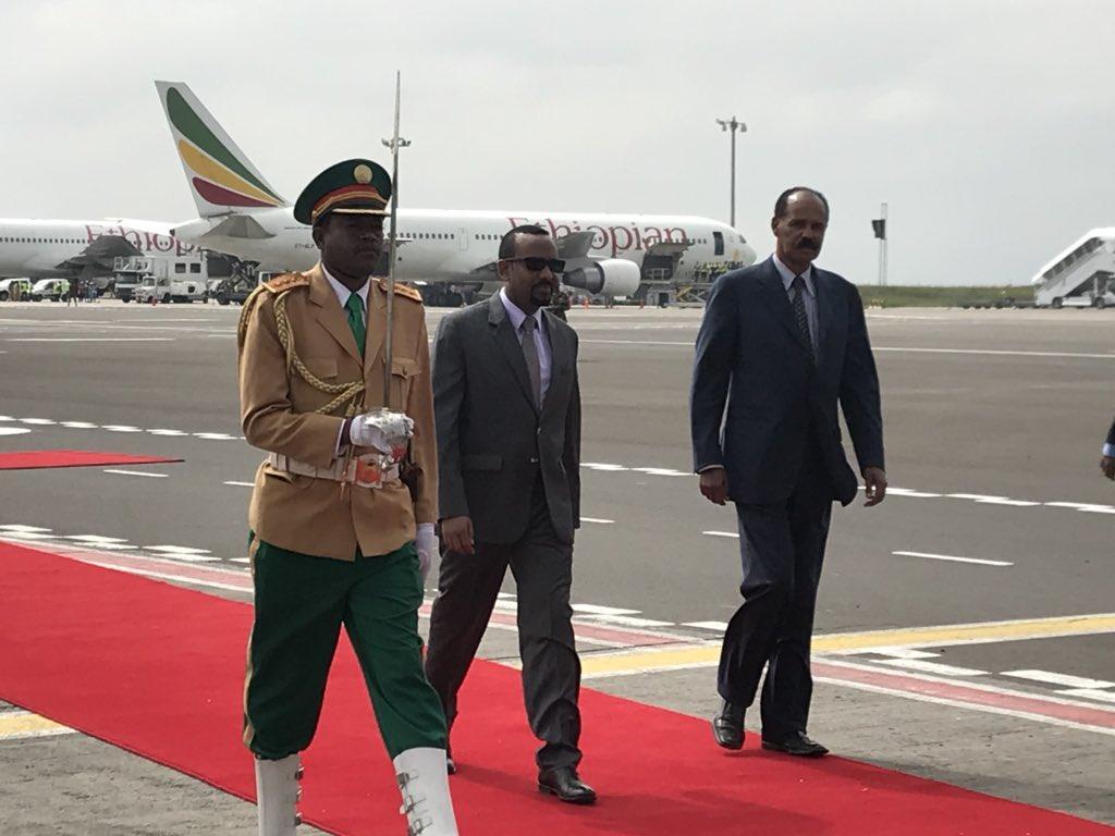 زيارة تاريخية للرئيس الأريتري أفورقي إلى أثيوبيا.. صور وفيديو