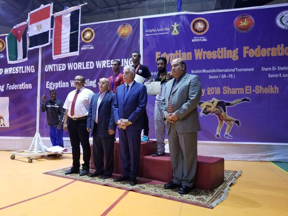 اليمن يحقق خمس برونزيات وفضية في البطولة العربية للمصارعة