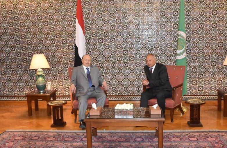 الجامعة العربية باستقبال هادي: تدخل إيران في اليمن يهدد الأمن القومي العربي