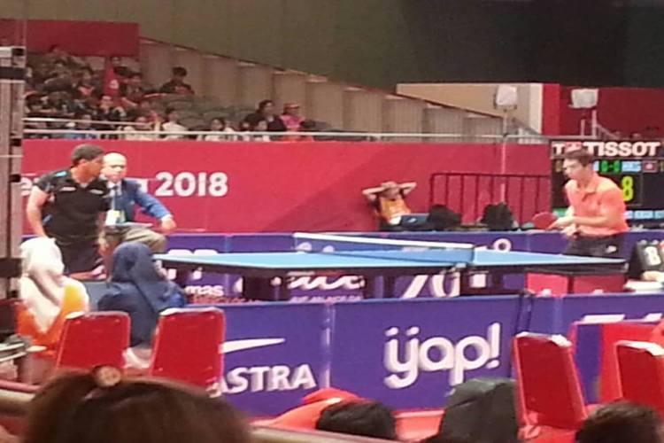 منتخب الطاولة اليمني الرابع في مجموعته بدورة الألعاب الآسيوية